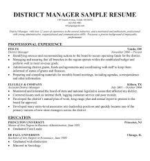 District Manager Resume Sample sawyoo com
