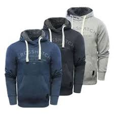 Details about Mens Crosshatch <b>Hoodie Crosshatch</b> Cotton Hooded ...