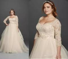 <b>Champagne Vintage</b> Lace Plus Size Wedding Dresses Formal ...