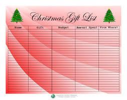 christmas gift list financial literacy christmas gift list template