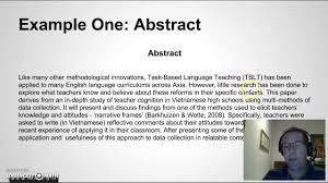 writing an abstract for your research paper writing an abstract for your research paper