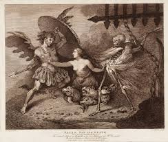 the unholy trinity satan sin and death in milton s paradise satan sin and death engraved by thomas rowlandson and john ogbourne after t00790 1792