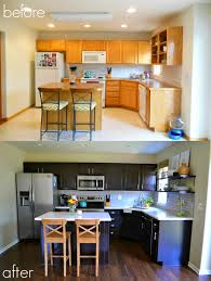 Diy Staining Kitchen Cabinets Cabinet Refinishing 101 Latex Paint Vs Stain Vs Rust Oleum
