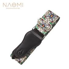 <b>Naomi nylon guitar</b> strap <b>adjustable guitar</b> strap belt flower pattern ...
