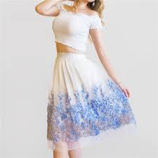 <b>2019 New</b> Puff <b>Women Organza</b> Tulle Skirt White faldas High waist ...