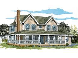 Painted Creek Country Farmhouse Plan D    House Plans and MoreWrap Around Porch Surround This Farmhouse Homes Façade