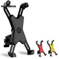 rockbros bike phone holder aluminum alloy ultralight cycling stand mount adjustable universal bicycle handlebar part