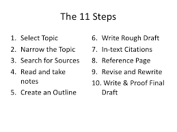 What are the steps in the process of writing an essay SlidePlayer