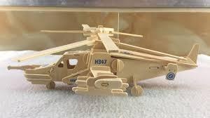 <b>DIY</b> 3D Woodcraft Construction Kit KA-50 Black <b>Shark</b> - YouTube
