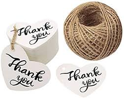 "Original Design 100PCS Thank You Tags 2.6"" X 2"" <b>Kraft Paper</b> Gift ..."