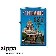 <b>Зажигалка</b> широкая <b>Zippo</b> Classic <b>Исаакиевский</b> собор Cerulean ...