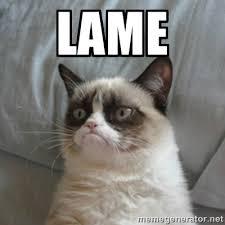 LAME - Grumpy Cat ={ | Meme Generator via Relatably.com