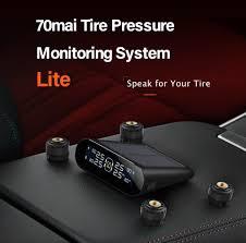 70mai Tire Pressure Monitor System Lite <b>Smart Car TPMS</b> Solar ...