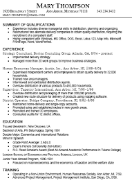 resume types and samples experience resume example