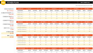 fitness logs fitness log templates fitness logs fitness plan excel template