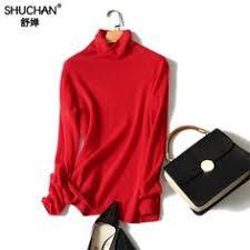 <b>Shuchan</b> 100% Cashmere Black <b>Sweaters</b> Women <b>Pullover</b> Long ...