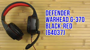 Распаковка <b>Defender Warhead G</b>-<b>370</b> Black-Red 64037 - YouTube