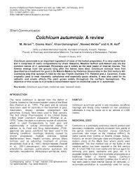 (PDF) Colchicum autumnale: A review
