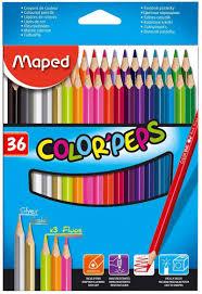 <b>Карандаши цветные Maped Color</b>'pers треугольные, в картонном ...
