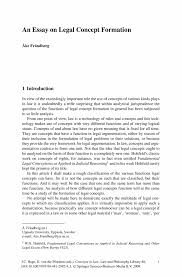 what is a concept essay an essay on legal concept formation springer an essay on legal concept formation springer