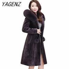 2019 <b>Winter pu leather women</b> plus velvet thick jacket fashion slim ...