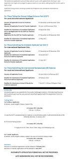 application timetable de manila university application timetable