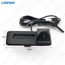 LEEWA Car <b>Rearview Trunk Handle</b> Parking Camera For Skoda ...