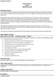 cv example for a teaching assistant   lettercv comteaching assistant cv example
