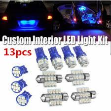 <b>13X Blue</b> LED Bulbs Car Interior T10 31mm Map Dome License ...
