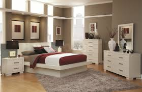 red wall paint black bed: purple wall painting  interior bedroom white solid wood low profile bed combined with white solid wood dresser in gray painted bedroom wall cool paint colors for bedrooms