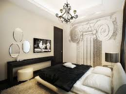 decoration graceful decoration of brilliant vintage room ideas with good chandelier above wide bed beside