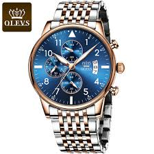 OLEVS Business Men's Watch Quartz Stainless Steel <b>Multifunctional</b> ...