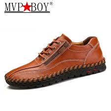 MVP BOY <b>big size 38 48</b> male shoes casual fashion men's genuine ...
