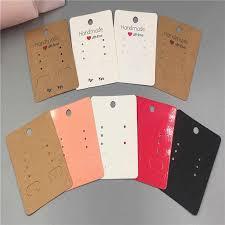 200PCS/Lot <b>6.5*5cm</b> Fashion Earring Card Blank <b>Jewelry</b> cards ...
