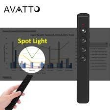 AVATTO 2.4Ghz RF Spotlight Air mouse <b>Wireless PPT Presenter</b> ...