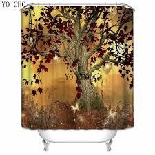 YO CHO <b>New Colorful Eco friendly</b> 3D Tree Of Life Shower Curtain ...