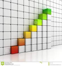 blocks growing bar diagram on white wall stock photo   image    blocks growing bar diagram on white wall