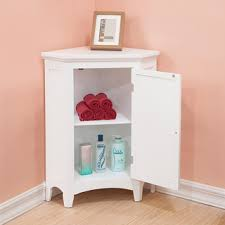 bayfield white shutter door corner floor cabinet by elegant home fashions bathroom corner furniture