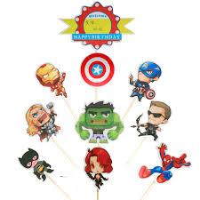 Baby Shower Happy Birthday Party Avengers <b>Cartoon</b> Theme ...