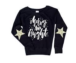 Christmas Sweater. <b>Sequin</b> Top. <b>Merry</b> and Bright. <b>Women's</b> | Etsy