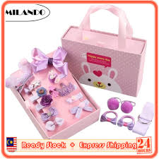 (<b>18pcs</b>) MILANDO <b>Kid</b> Girl Hair Accessories <b>Set</b> with Hair Clip ...