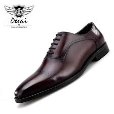<b>2019 Spring New</b> Men's <b>Leather</b> Retro British Pointed Toe Genuine ...