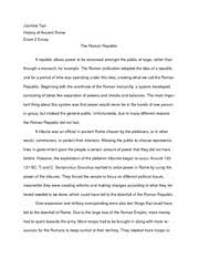 aclc   history of ancient rome   suny albany   course hero  pages the roman republic essay