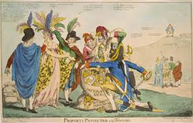 affair a british political cartoon depicting the affair the united states is represented by the w who is being plundered by five frenchmen