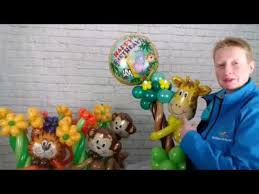 <b>Jungle party balloon</b> centrepieces and transporting <b>balloon</b> by the ...