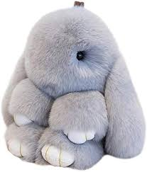 <b>Bunny Rabbit Keychain</b> Pom Toy Doll <b>15cm</b> Pendant: Amazon.com ...