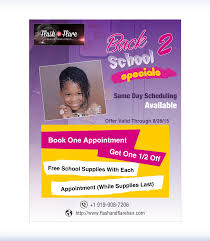 hair salon flyer back to school for flash flare dv hair salon flyer back to school for
