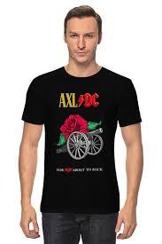 Футболка <b>классическая</b> AC/DC & Axl Rose #1563130