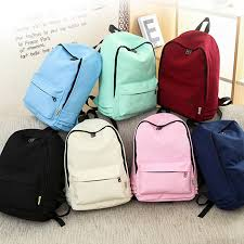 <b>Fashion Women Backpack Solid</b> Color Travel <b>Bag</b> Casual Shoulder ...