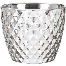 "Scheurich <b>Кашпо</b> для цветов <b>Mirror</b> Silver 16"" керамика ..."